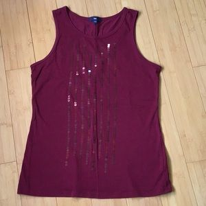 Gap pima cotton tank with sequins